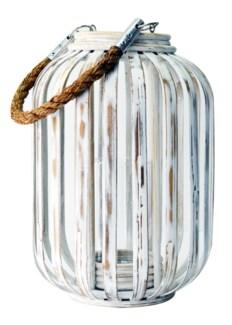 Moana Bamboo Lantern - White Wash