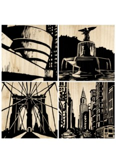New York City Panel (set of 4) - Black