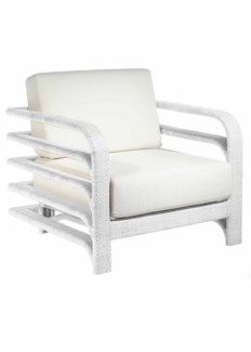 Synthetic/Outdoors Reo Lounge Chair - White