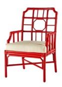 Regeant Arm Chair - Antique Red