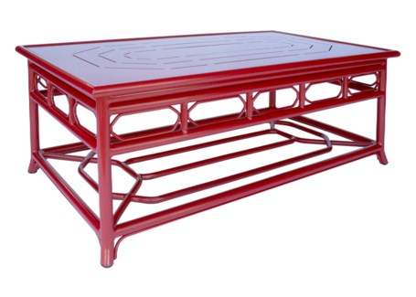 4-Season Regeant Coffee Table (Aluminum) - Antique Red