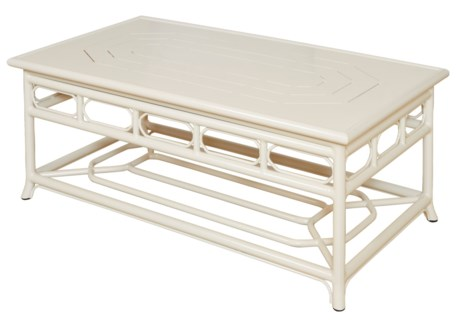 4-Season Regeant Coffee Table (Aluminum) - Winter White