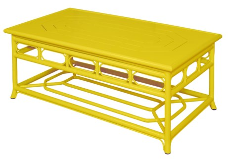 4-Season Regeant Coffee Table (Aluminum) - Yellow