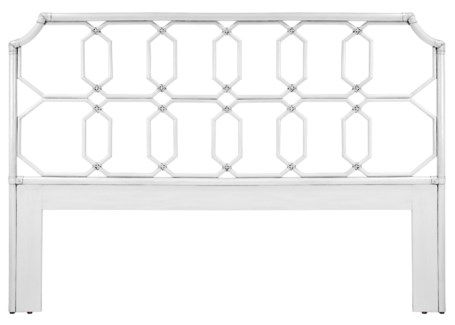 Regent King Headboard - White