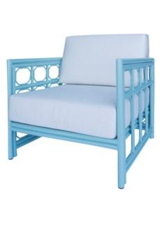4-Season Regeant Lounge Chair (Aluminum) w/ Cushions - Blue