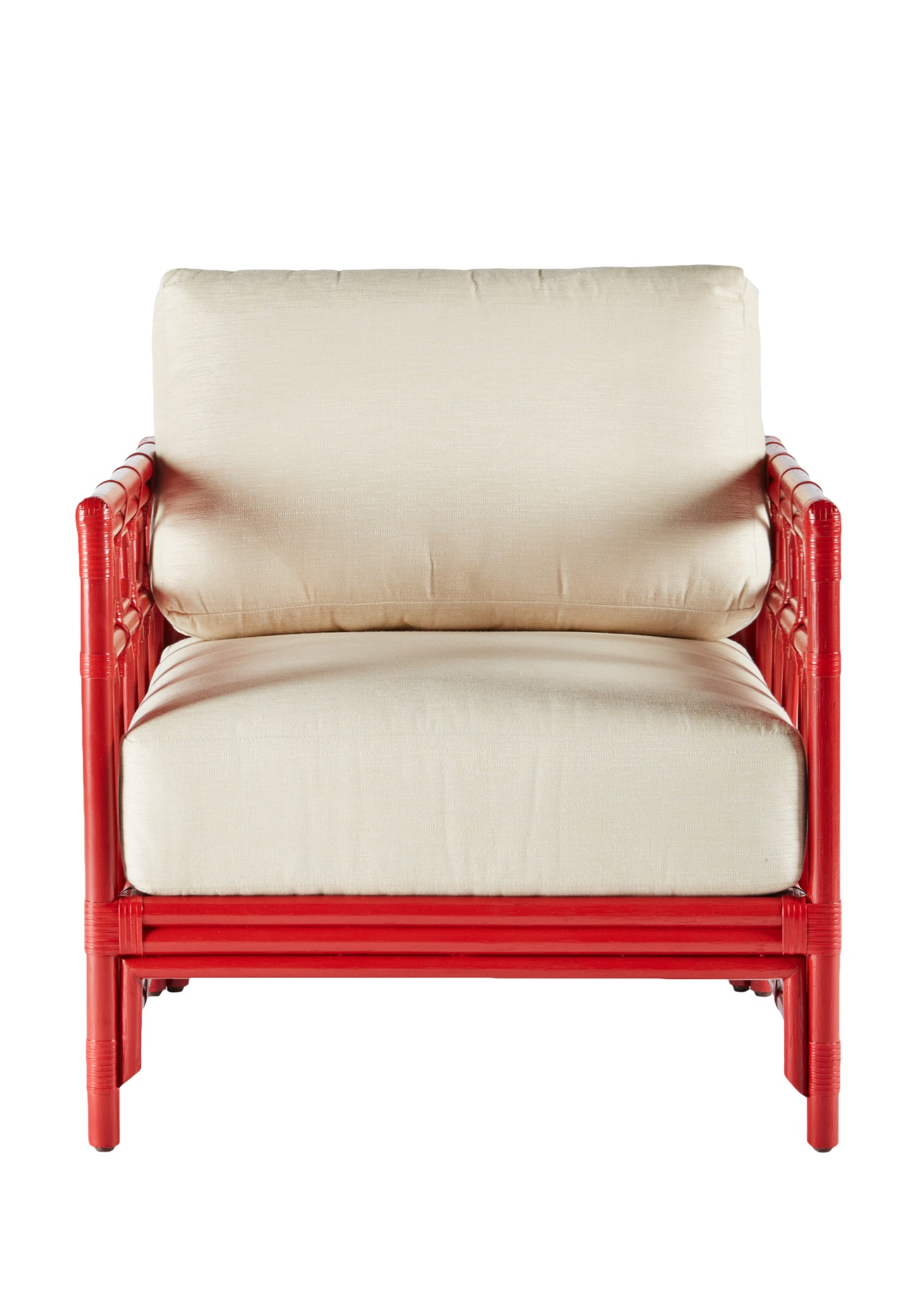 Regeant Lounge Chair, Rattan   Antique Red