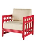 Regeant Lounge Chair, Rattan - Antique Red
