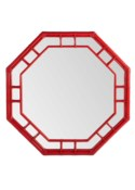 Regeant Octagonal Wall Mirror - Antique Red