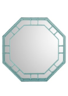 Regeant Octagonal Wall Mirror - Light Blue