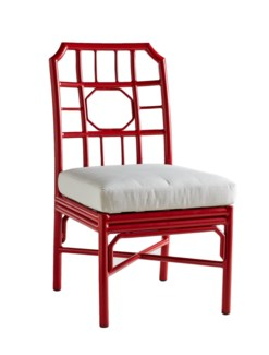 Regeant 4 Season  Side Chair w/ Pillow - Antique Red