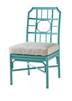 Regeant 4 Season Side Chair w/ Pillow - Blue