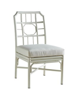 4-Season Regeant Side Chair (Aluminum) w/ Cushion - White