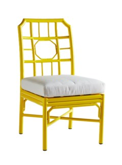 Regeant 4 Season Side Chair w/ Pillow - Yellow