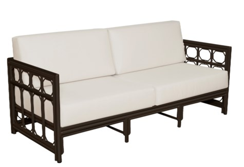 4-Season Regeant Sofa (aluminum) w/ Cushions - Bronze