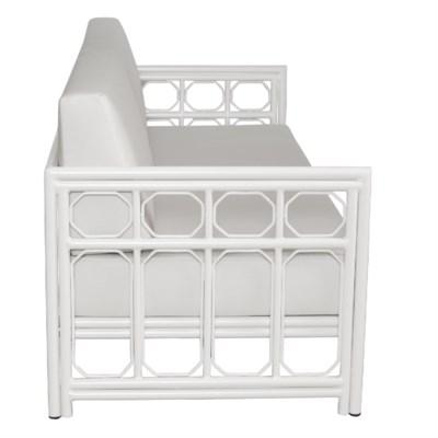 4-Season Regeant Sofa (Aluminum) w/ Cushions - Winter White