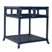 Regeant Side Table w/Glass - Blueberry