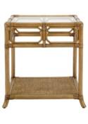 Regeant Side Table w/Glass - Nutmeg
