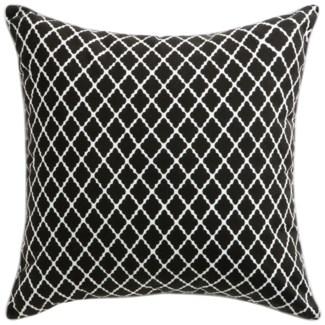 Florence Broadhurst Antique Lattice Black Cushion 22x22 (Outdoor)