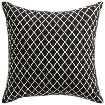 Florence Broadhurst Antique Lattice Black Cushion 22x22 (Outdoor)
