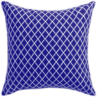 Florence Broadhurst Antique Lattice Cobalt Pillow 22x22