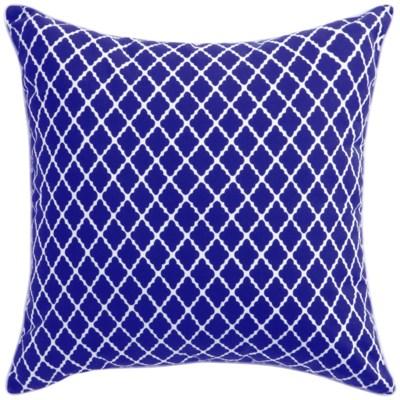Florence Broadhurst Antique Lattice Cobalt Cushion 22x22 (Outdoor)