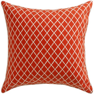 Florence Broadhurst Antique Lattice Red Cushion 22x22 (Outdoor)