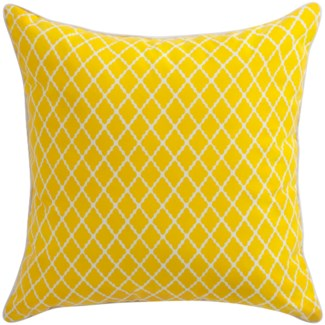 Florence Broadhurst Antique Lattice Yellow Cushion 22x22 (Outdoor)