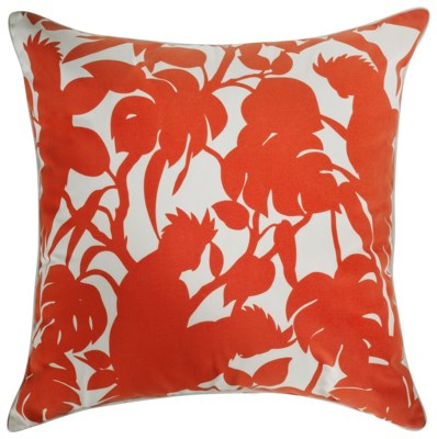 Florence Broadhurst Cockatoos Red Pillow 22x22