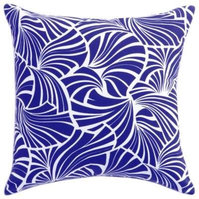 Florence Broadhurst Japanese Fans Cobalt Cushion 22x22 (Outdoor)