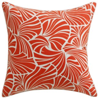 Florence Broadhurst Japanese Fans Red Pillow 22x22
