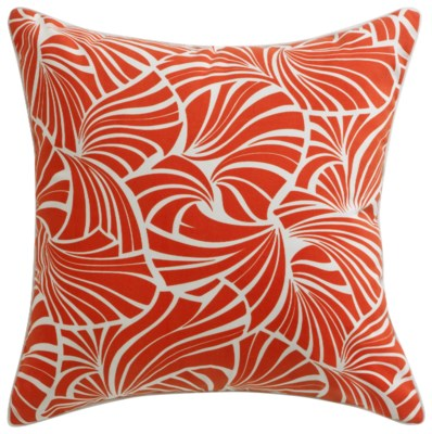 Florence Broadhurst Japanese Fans Red Cushion 22x22 (Outdoor)