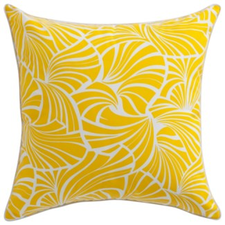 Florence Broadhurst Japanese Fans Yellow Pillow 22x22