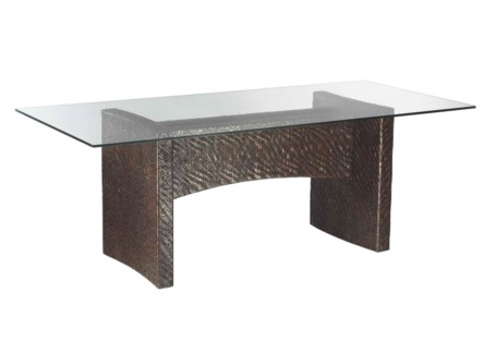Riva Rect Dining Table Base,Hourglass Weave-PP