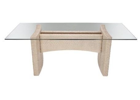 Riva Rect Dining Table Base,Hourglass Weave-ST