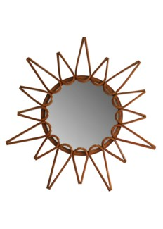 Ray Round Mirror - Walnut