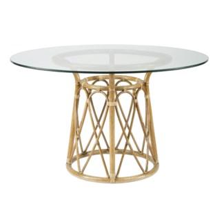 """Sona 48"""" Dining Table Base - Nutmeg"""