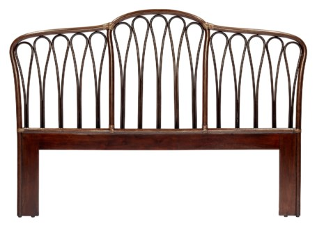 Sona Queen Headboard - Cinnamon/Espresso