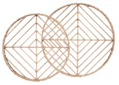 Vineyard Round Nesting Trays (2) - Natural