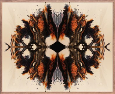 Created for Selamat the Mirrored Rust by Salvare is an evocative inkblot pattern that bleeds and...