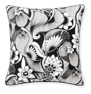Florence Broadhurst Aubrey Black Pillow 20x20