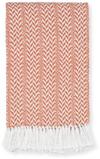 Rapee Braid Coral Throw