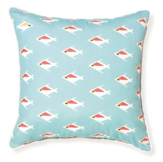 Rapee Riviera Fish Aqua Pillow 18x18  (Outdoor)