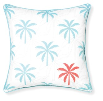 Rapee Riviera Island Aqua Pillow 18x18 (Outdoor)