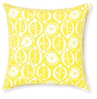 Rapee Riviera Lemons Lemon Cushion 20x20 (Outdoor)