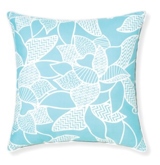 Rapee Riviera Lily Aqua Pillow 20x20 (Outdoor)