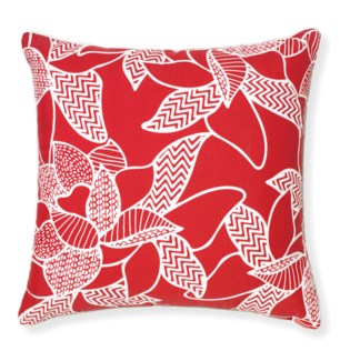 Rapee Riviera Lily Red Pillow 20x20 (Outdoor)