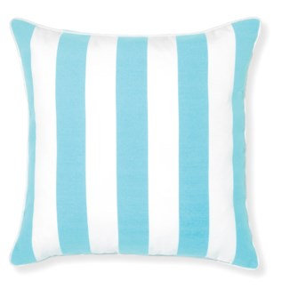 Rapee Riviera Stripe Aqua Pillow 20x20 (Outdoor)