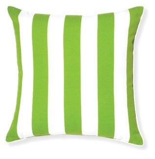 Rapee Riviera Stripe Green Pillow 20x20 (Outdoor)