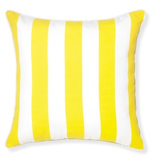 Rapee Riviera Stripe Lemon Pillow 20x20 (Outdoor)