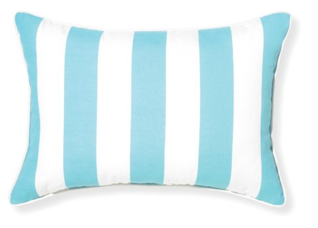 Rapee Riviera Stripe Aqua Pillow 14x20 (Outdoor)
